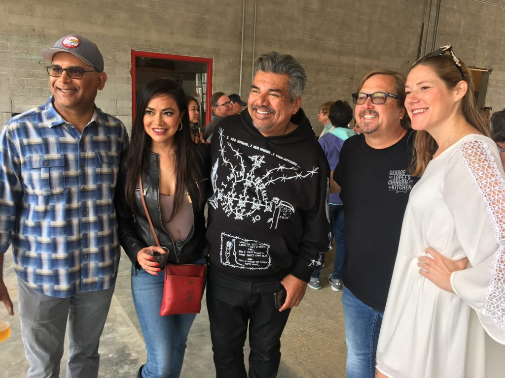 Esmeralda Gallemore with George Lopez and friends